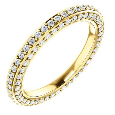 Diamond Wedding Ring | 14k Yellow Gold Eternity Band