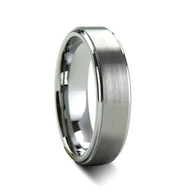 Tungsten Wedding Band Brushed Surface