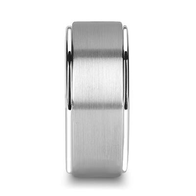 Tungsten Wedding Ring Brushed Surface