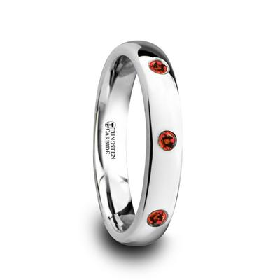 Women's Wedding Band with Rubies