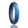 Women's Wedding Band Blue Moku-Titanium