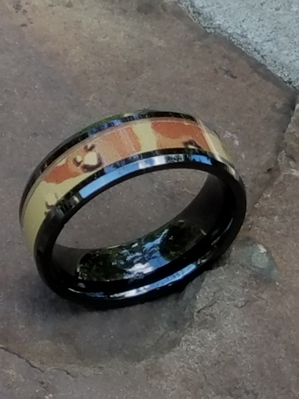 MIRAGE | Desert Camo Ring | Black Ceramic | 8mm - TCRings.com