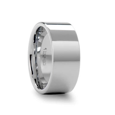 Men's White Tungsten Wedding Band