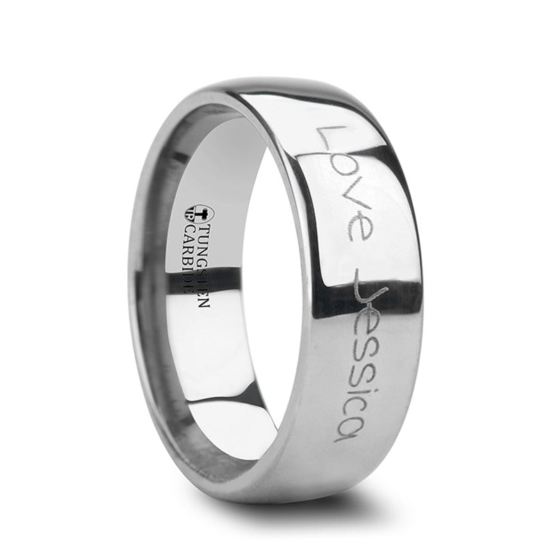 PROSE | Women's Tungsten Wedding Ring with Engraving | 4mm, 6mm, TCRings