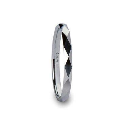 Women's White Tungsten Wedding Band