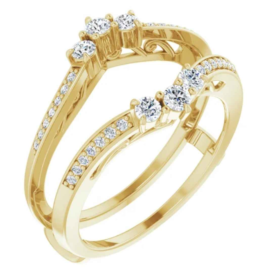 Women's 14k yellow gold ring guard