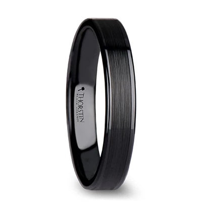 Black Ceramic Wedding Ring 4mm