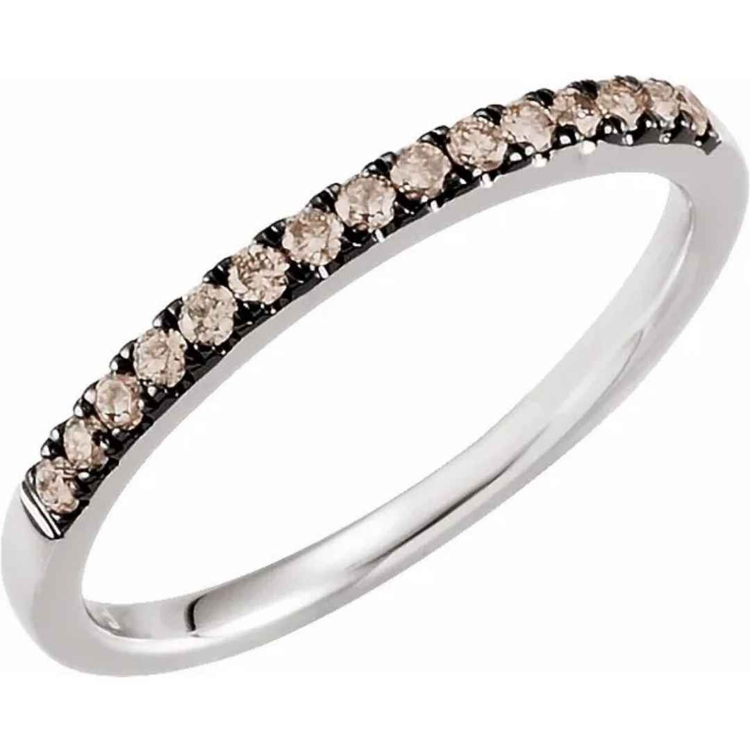Women's brown diamond wedding ring