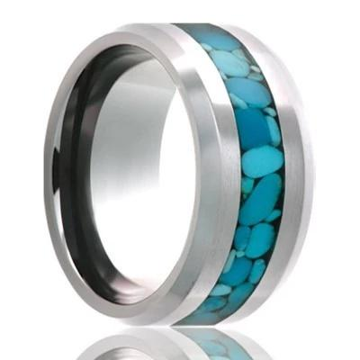 Men's Wedding Ring Cobalt with Inlay