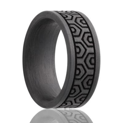 Men's Black Wedding Band