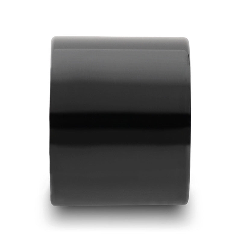 SHANE | Extra Wide Men's Black Tungsten Ring | Polished | 20mm
