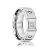Men's Wedding Band Cobalt with Diamonds