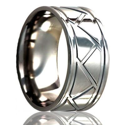 Men's Unique Wedding Band Titanium