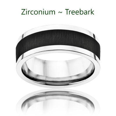 TWIST | Base Flat 8mm Titanium Band | Interchangeable Inserts Sold Separately - TCRings.com