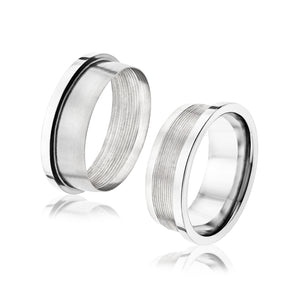 TWIST Base Flat 8mm Titanium Band | Interchangeable Inserts Sold Separately - TCRings.com