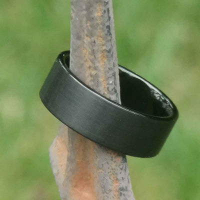 Black Wedding Band on a Stick