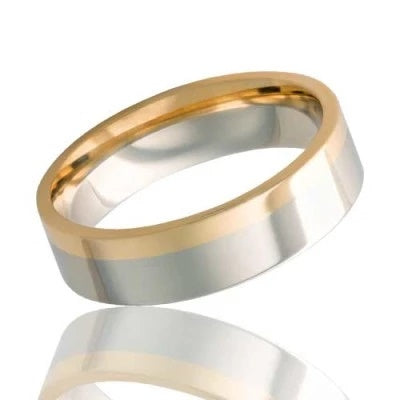 14k Gold Wedding Ring White and Rose Gold