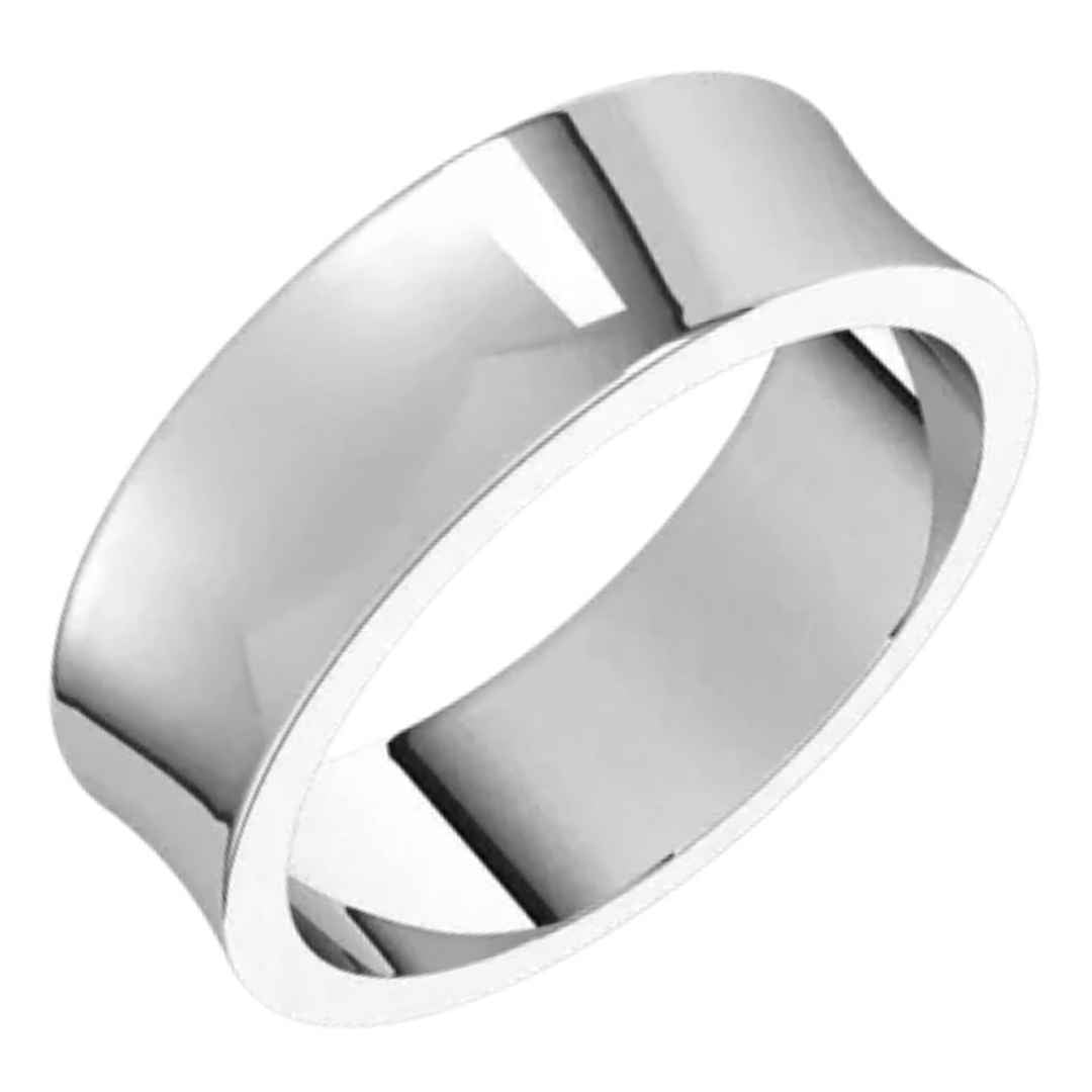 Men's 14K white gold wedding ring