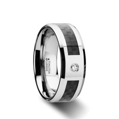 Men's Wedding Band Tungsten with Inlay