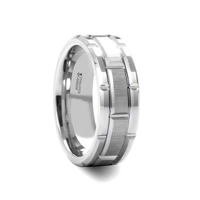 Men's Wedding Band Tungsten