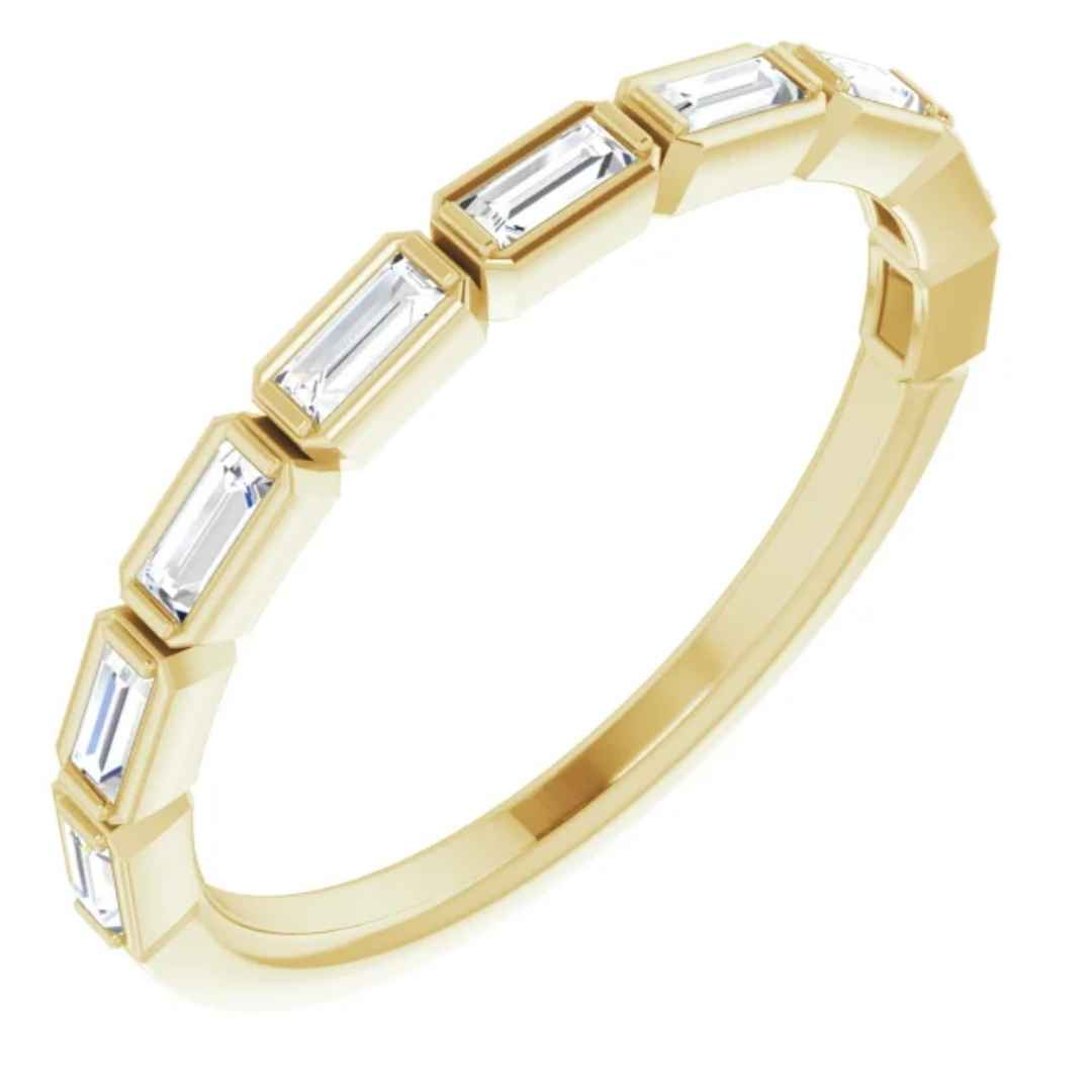 14K yellow gold diamond wedding ring