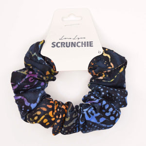 BLACK BATIK 6 SCRUNCHIE