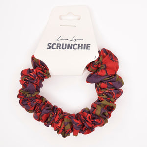 BROWN RED OLIVE 1 SCRUNCHIE