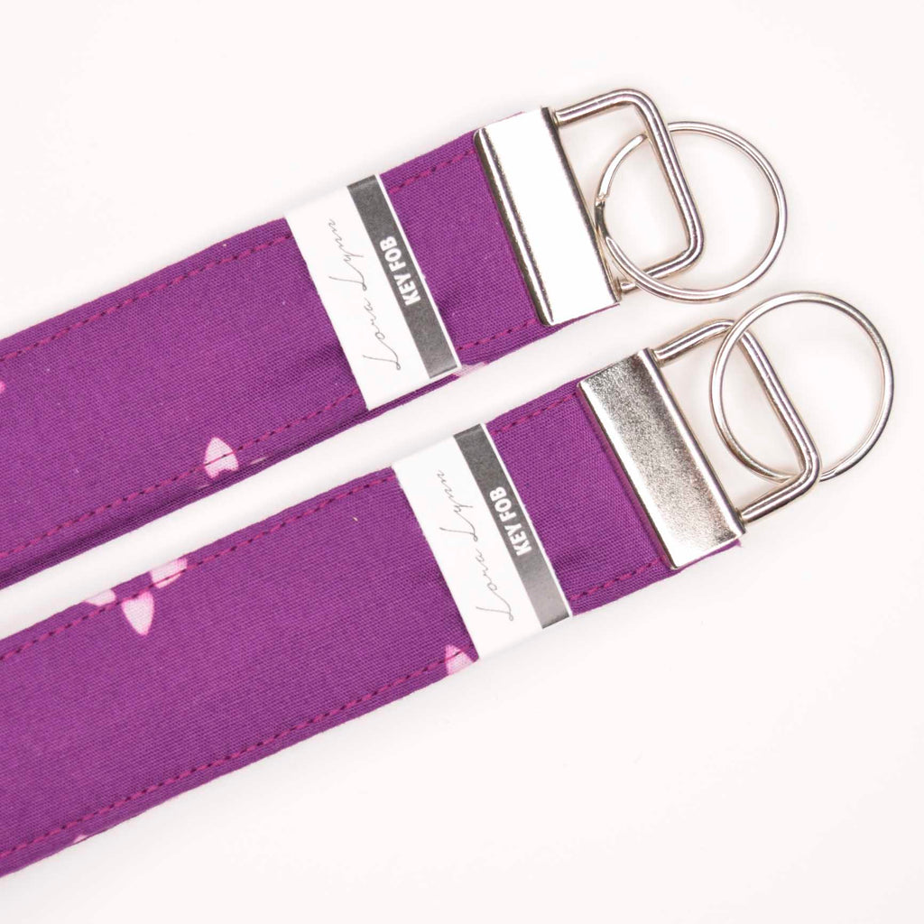 BRIGHT PURPLE BATIK 2 Key Fob Wristlet