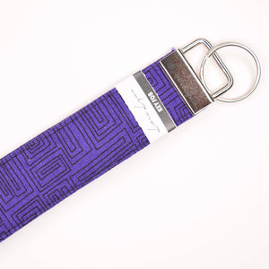 PURPLE LINES 24 Key Fob Wristlet