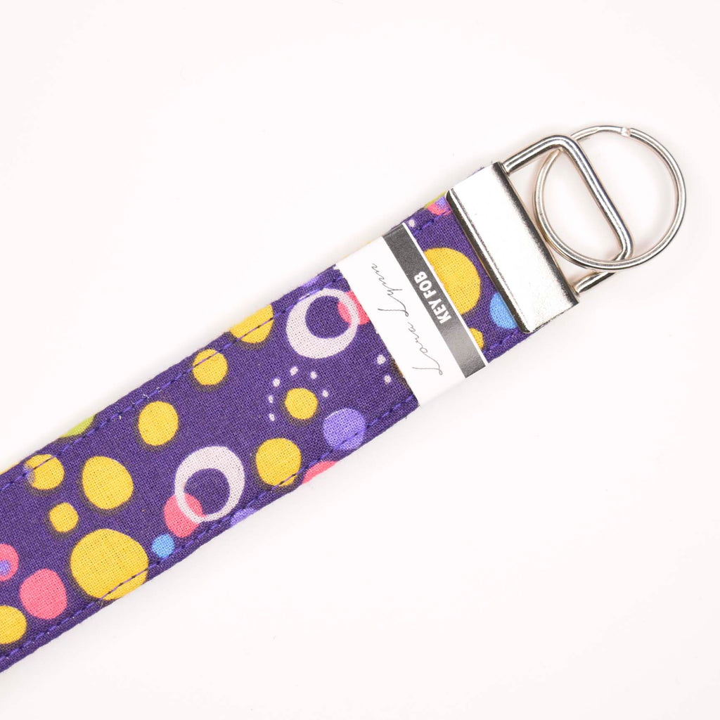 PURPLE BUBBLES 9 Key Fob Wristlet
