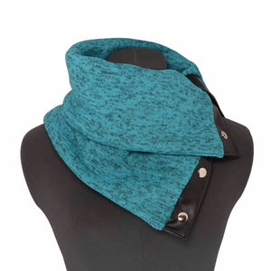 TEAL (BRIGHT) COWL - Snap Scarf