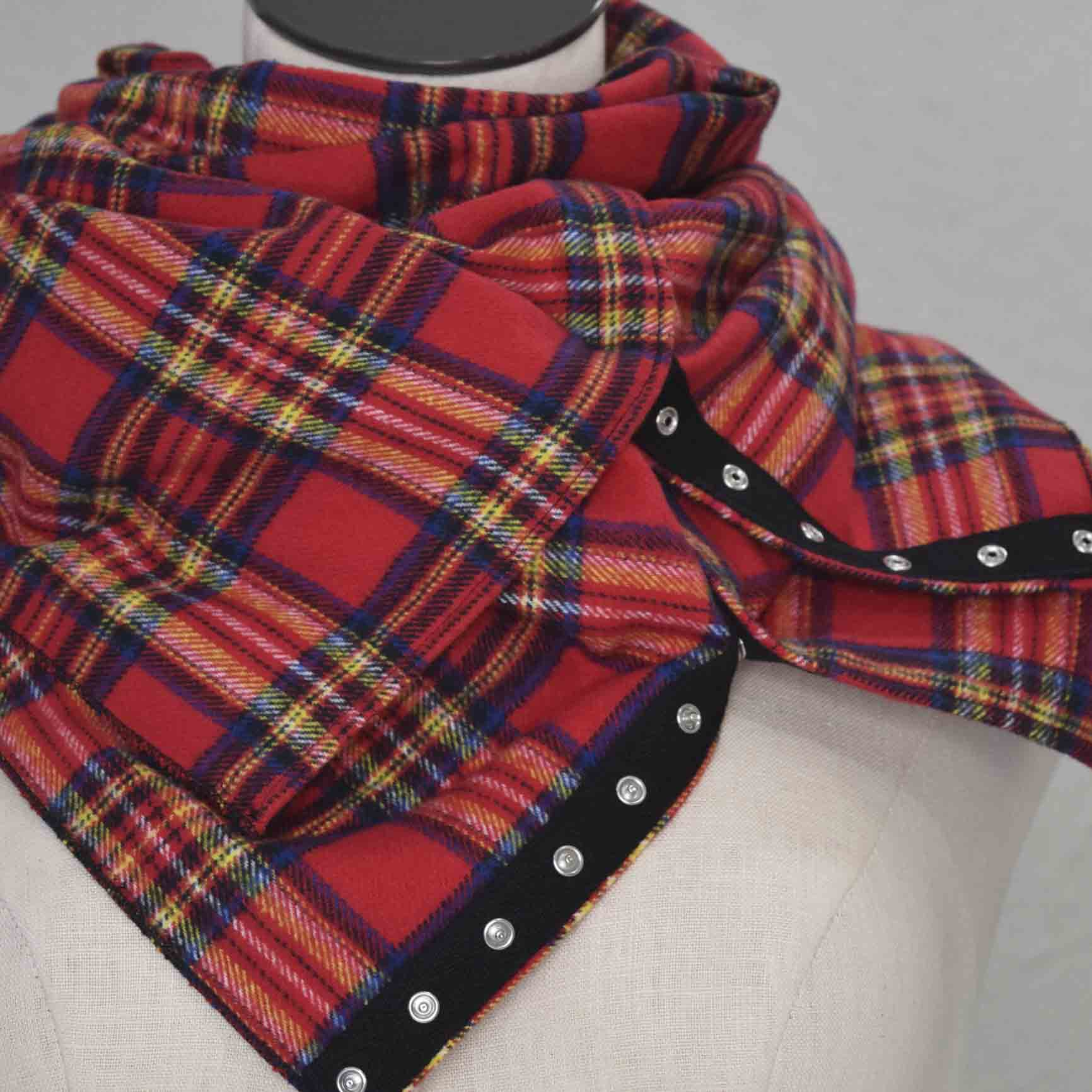 PLAID (infinity) 32 Snap Scarf