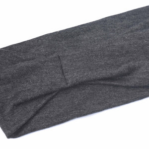 GREY (DARK HEATHER) - Wide Headband
