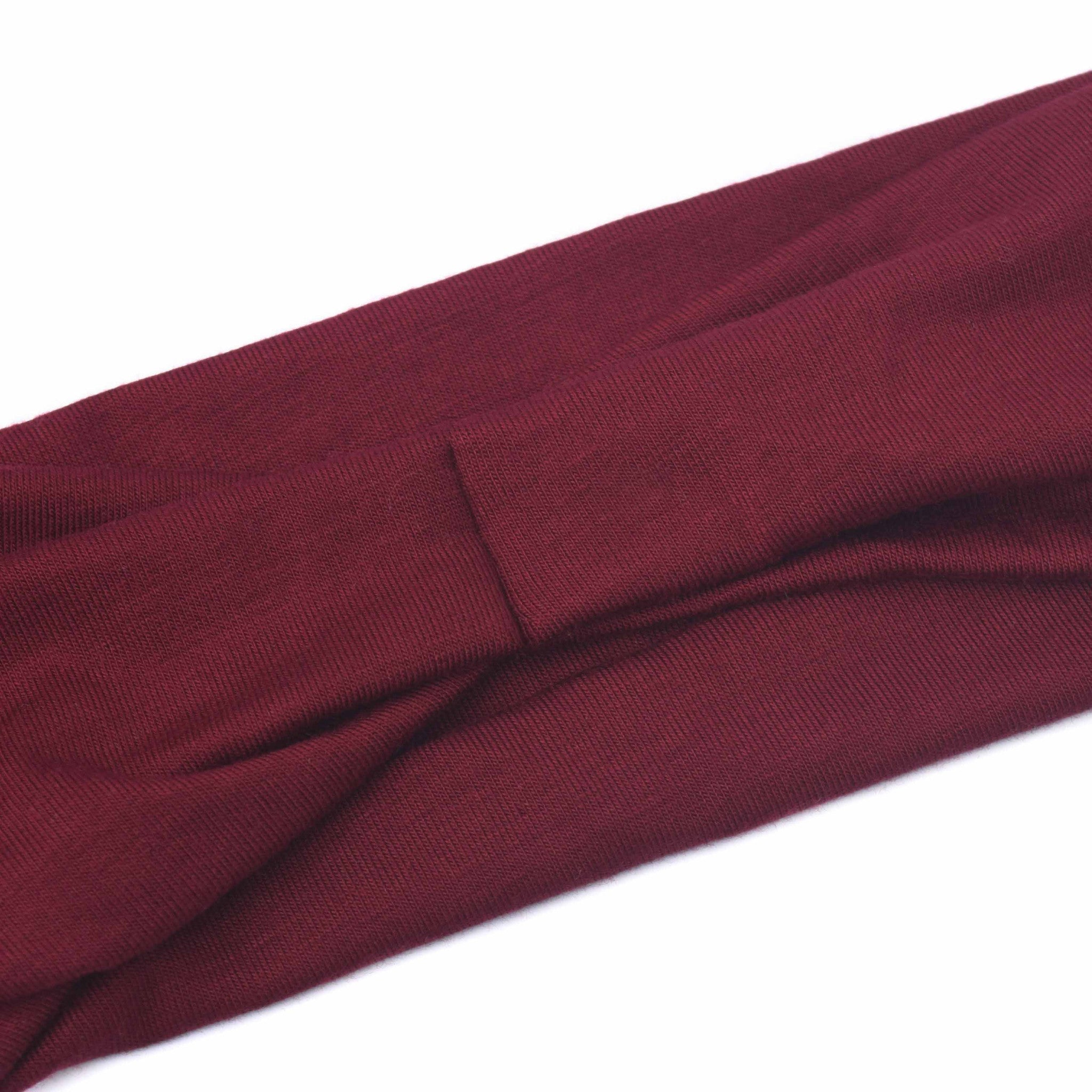 MAROON - Wide Headband
