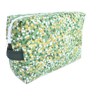 KELLY GREEN WITH GOLD - Large Toiletry Bag