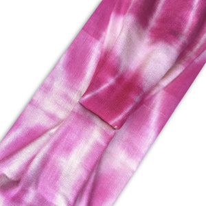 PINK (BRIGHT) TIE DYE - Wide Headband