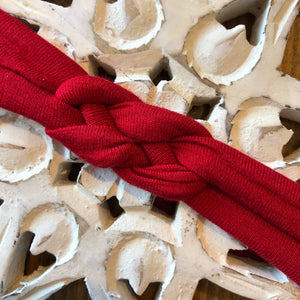 RED - Knotted Headband