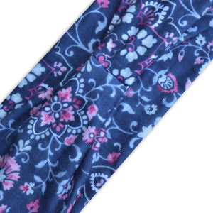 BLUE (PINK FLORAL) PRINT - Wide Headband