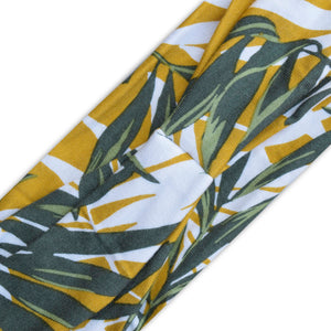 YELLOW (PACKER PALM) PRINT - Wide Headband