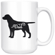 Black Labrador Dad Coffee Mug (15 oz) - Freedom Look