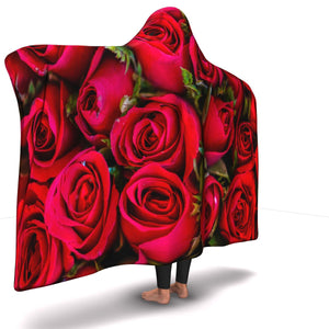 Red Roses Valentine Hooded Blanket (S)