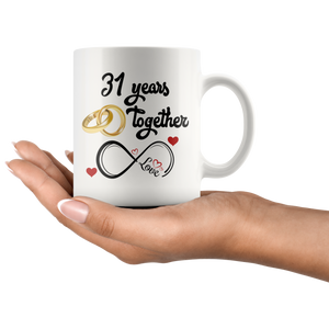 31 Years Together Anniversary Coffee Mug (11 oz) - Freedom Look