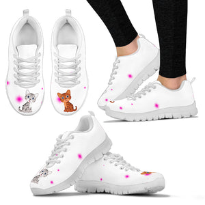 Cat - Shoes - White Women's Sneakers