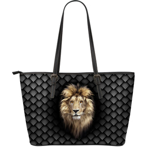 Lion Large Leather Tote Bag