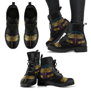 Dragonfly Circle Leather Boots - Freedom Look