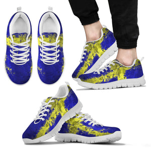 White Sweden Flag - Sport Shoes - Men's Sneakers