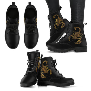Scorpio Zodiac (Scorpion) Leather Boots