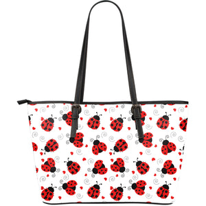 Ladybug Large PU Leather Tote Bag