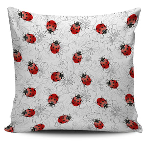 Ladybug & Flower Pillow Cover - Freedom Look