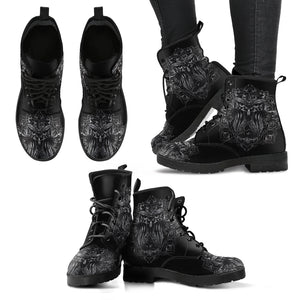 Black Owl Handcrafted Women's Vegan-Friendly Leather Boots